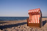 Beach chair at baltic sea poster