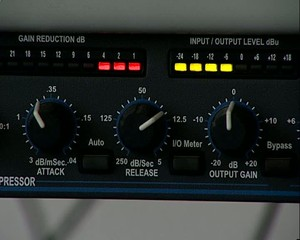 Sound processor. Camera move. The indicator of level.