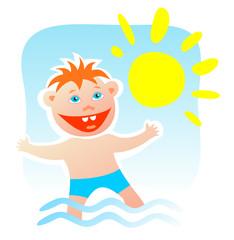 child and sun