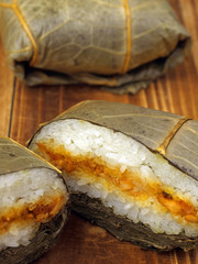 asian lotus leaf sticky rice