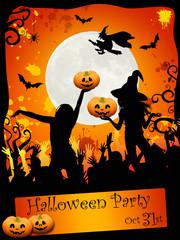 Halloween disco-party card