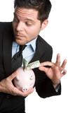Man Stealing Money From Piggybank poster