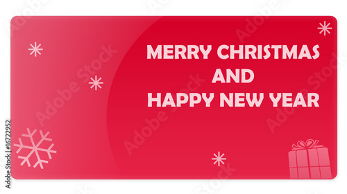 Red Christmas New Year Gift Card