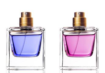 Perfume bottle isolated on white background.