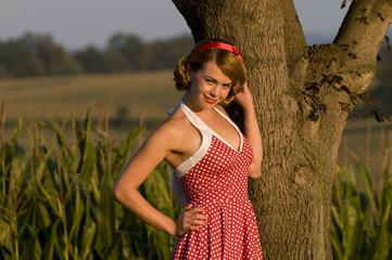 retro country girl
