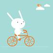 roleta: Bunny on a bike
