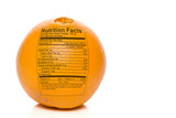 Orange Nutrition Facts poster