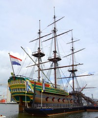 Ship in Amsterdam