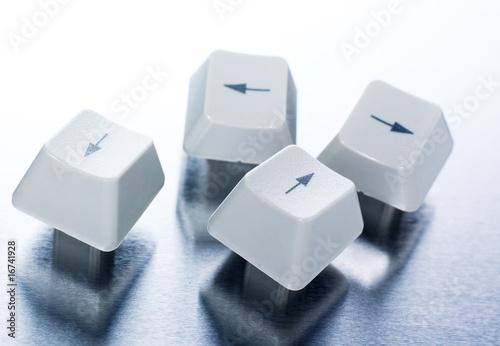 touche clavier flèches navigation ordinateur