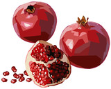 Pomegranates with seeds