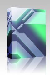 Angular geometric abstract box package