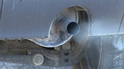 Exhaust of an old car