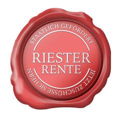 siegel riester riesterrente