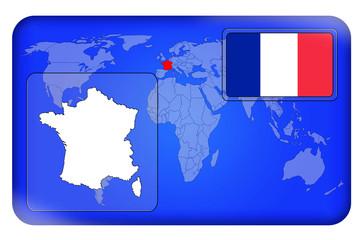 3D-Button - Frankreich