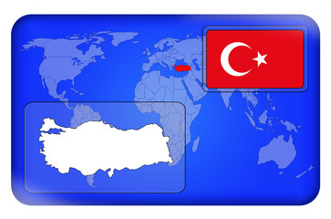 3D-Button - Türkei
