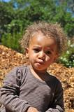 Multiracial race boy portrait poster