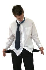 unemployed business man