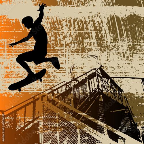 fototapete skateboarder kostg nger beim sport urbane. Black Bedroom Furniture Sets. Home Design Ideas