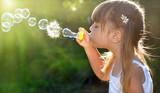Blowing soap bubbles - Fine Art prints