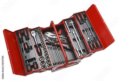 Leinwanddruck Bild Werkzeugkasten