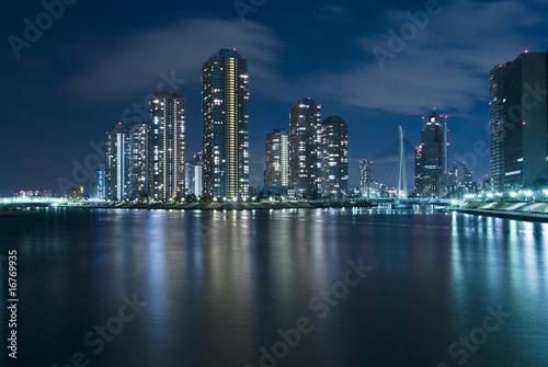 modern Tokyo at night