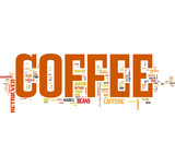 Fototapety Coffee tag cloud