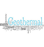 Geothermic tag cloud poster