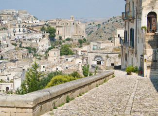 Panoramic view. Sassi of Matera. Basilicata.