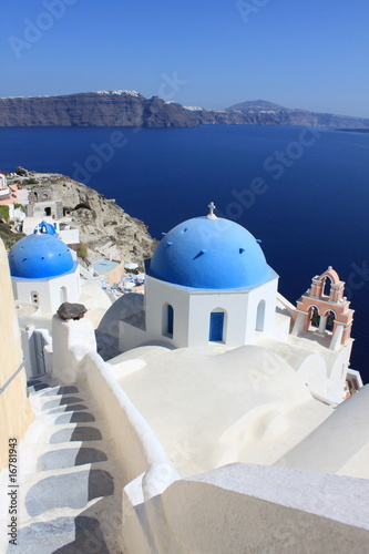 Chapelles à Santorin - Cyclades - Grèce