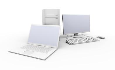 Laptop und Desktop PC