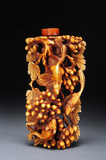 Chinese 19th century carved ivory snuff bottle poster