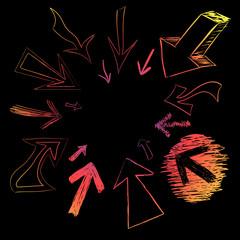 Colorful Arrow Doodles