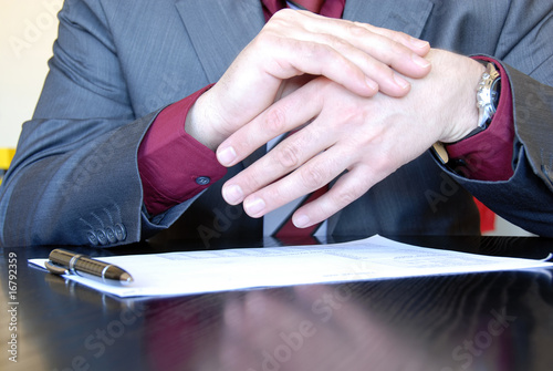 Businessman  hands explaining