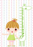Kid girl scale hight poster