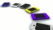 Collection téléphones portable couleur animation