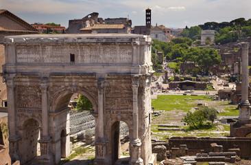 Septemus Severus Arch Titus Arch Forum Rome Italy