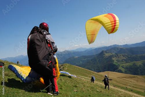 Fototapete Fallschirm - Gleitschirm - Wandtattoos - Fotoposter - Aufkleber