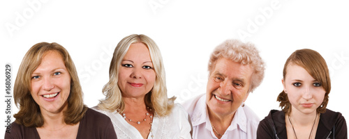 women generation - 13, 40, 50 and 75 years old