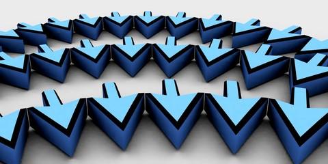 mauszeiger blau
