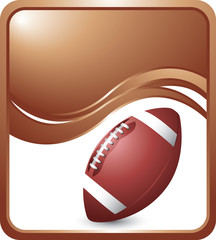 football template colored brown