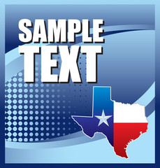 Texas icon blue halftone banner
