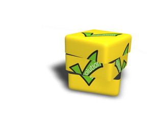 solution 3d cube animation