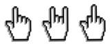 Hand cursor set