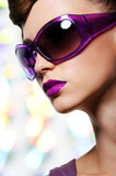 Fototapety girl in fashion sunglasses