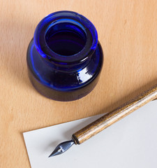ink-stand and pen