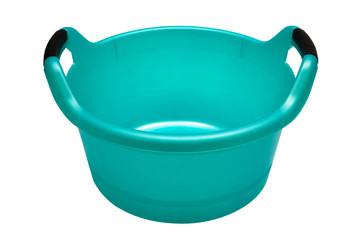 Plastic turquoise basin