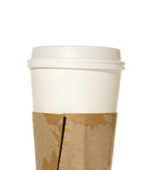 Take out coffee or tea drink cup with protective holder