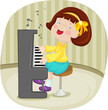 roleta: little girl playing piano