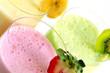Leinwandbild Motiv Assorted fruit smoothies
