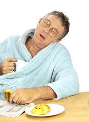 Nerdy Man Asleep